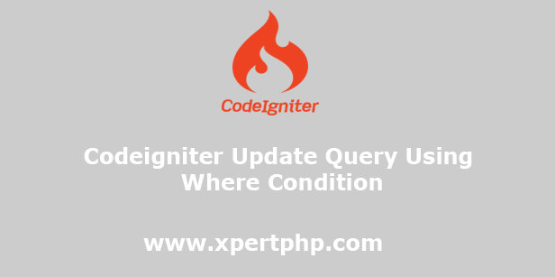 Codeigniter Update Query Using Where Condition