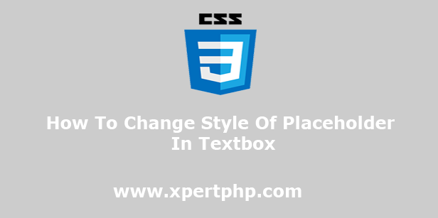 How To Change Style Of Placeholder In Textbox