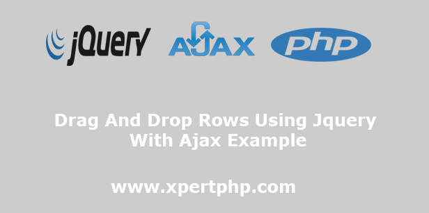 Drag And Drop Rows Using Jquery With Ajax Example