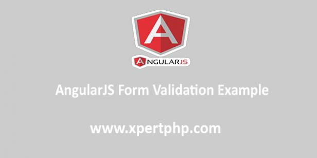 AngularJS Form Validation Example