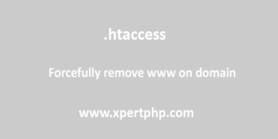 Forcefully remove www on domain