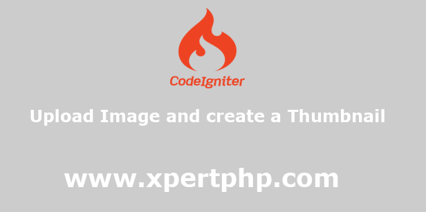 Upload image and create a thumbnail in codeigniter