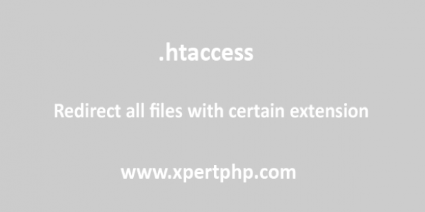 Redirect all files with certain extension