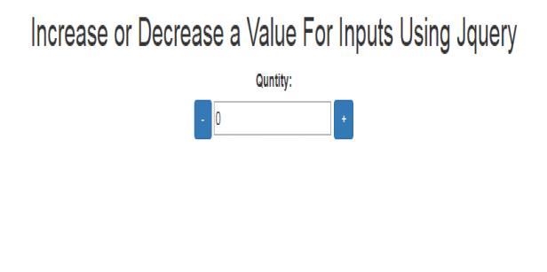 jquery increase or decrease quntity