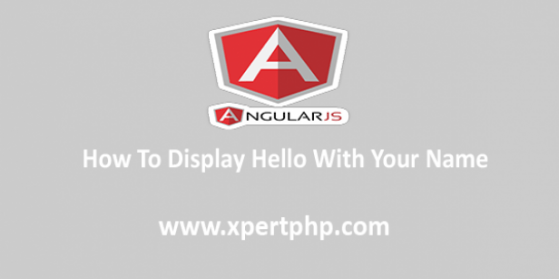 How to display Hello with Your name using the AngularJs