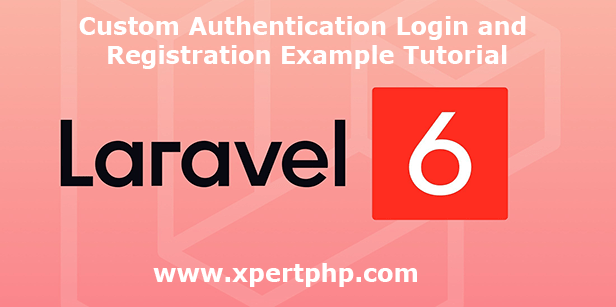 Custom Authentication Login and Registration Example Tutorial