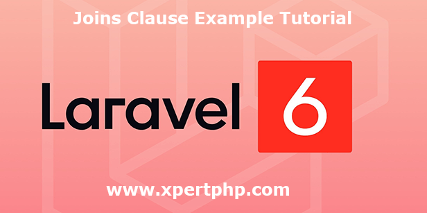 Laravel 6 join clause