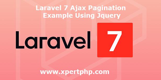 Laravel 7 Ajax Pagination Example Using Jquery