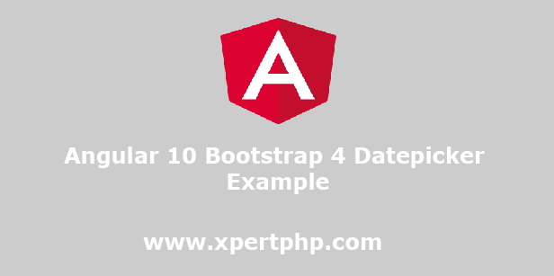 Angular 10 Bootstrap 4 Datepicker Example